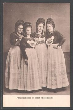 Costumes from the island of Föhr of the West coast of Germany #Foehr