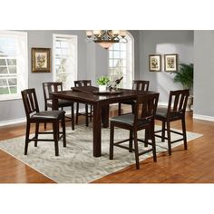 34d53d9f8f03 Landon Chocolate 5 Pc Counter Height Dining Set