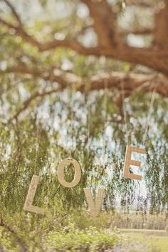 LOVE hanging from a tree - Styling by @SPLENDID DAYS. For more #wedding styling inspiration visit http://www.modernwedding.com.au