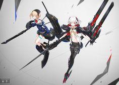 illust by neco Fantasy Character Design, Character Concept, Character Art, Concept Art, Fantasy Characters, Female Characters, Anime Characters, Sci Fi Anime, Anime Art