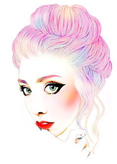 Hajin Bae's Day and Night Illustrations - Seriously so in love with these. They are amazing.