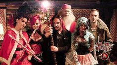 Some Christmas magic! The Director SpookyDan with his cast Barry Bostwick, Kristina Klebe, Susan Slaughter, Hannah Minx and Stephen Lunsford! Love the Slay Belles look? Check out our awesome nails and Christmas costumes boards for inspiration.