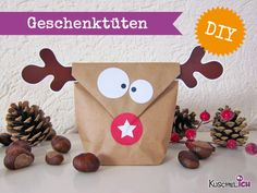 DIY ☆ 6 Geschenktüten☆ Elch von Kuschelich auf DaWanda.com