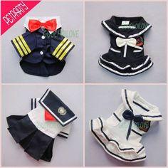 Sailor Náutico elegante para a roupa do cão de estimação vestido camisa Trajes Frete Grátis ★ | eBay