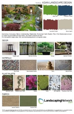Minimalist, modern, and zen. Get a printable guide to Asian and Japanese garden design at http://www.landscapingnetwork.com/garden-styles/AsianLandscapeDesign.pdf .