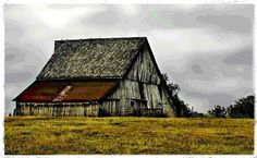 Barns, at one time so stately and the backbone of the farm.