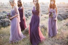 Ethereal Lavender Editorial Featuring Jenny Yoo's Nabi Collection {This Modern Romance}