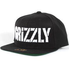 ed292e3ce9d Grizzly Stamp Logo Starter Snapback Hat (Black White)  39.95
