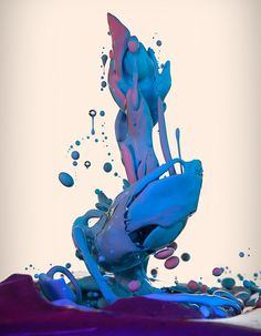 Italian photographer Alberto Seveso once again displays his mastery of high speed photography, this time showing ink mixing with oil in a series called Dropping. High Speed Photography, Water Photography, Conceptual Photography, Creative Photography, Ink In Water, Water Art, Paint Splash, Color Splash, Graphic Design Trends
