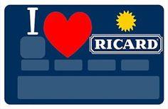Stickers CB, decoratif, pour carte bancaire, I Love RICARD – autocollant de haute qualité, création & fabrication Française