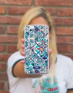 funda-movil-mix-azulejo-2 Flower Patterns, Phone Cases, Floral, See Through, Mobile Cases, Flower Doodles, Floral Patterns, Florals, Flower