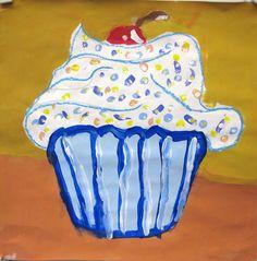 ♥ Cupcake paintings - the kids love making them.