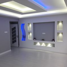 Discover recipes, home ideas, style inspiration and other ideas to try. Lcd Wall Design, Niche Design, House Ceiling Design, Ceiling Design Living Room, Home Room Design, Design Bedroom, Tv Wanddekor, Living Room Tv Unit Designs, Wall Unit Designs