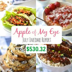 July Income Report- $530.32 – Apple of My Eye