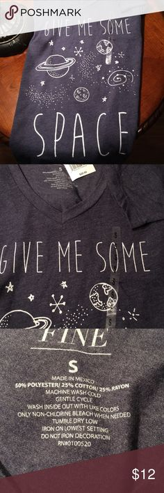 Give me some space T shirt NEW. Armpit to armpit is 16 inches. Tops Tees - Short Sleeve