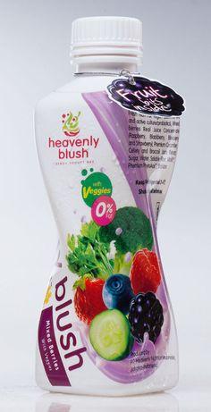 Heavenly Blush Yogurt Drink Packaging by Rifky Pramana Hady , via Behance
