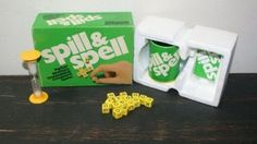 Vintage 1978 Spill & Spell Dimensional Crossword Game by Parker ...