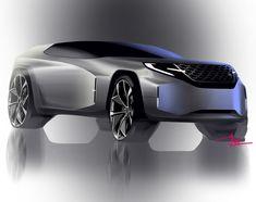 Sketchbook SangYeon Kim on Behance Car Design Sketch, Car Sketch, Suv Cars, Sport Cars, Future Concept Cars, 4x4, Car Drawings, Transportation Design, Automotive Design