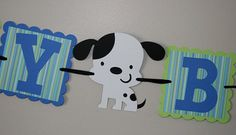 Puppy Dog Birthday Banner by scraptags on Etsy, $21.99