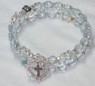Love the rosary bracelet idea - so pretty.  Rosaries by Jennifer.