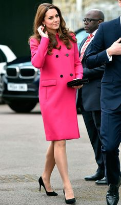 Kate Middleton Makes Her Final Public Appearance Before Giving Birth! - The Duchess of Cambridge Looks Pretty in Pink for Her Final Public Appearance Before Giving Birth t - Princesa Kate, Princesa Charlotte, Princesa Real, The Duchess, Duchess Of Cambridge, Baby Kate, Looks Kate Middleton, Pippa Middleton, Duchesse Kate
