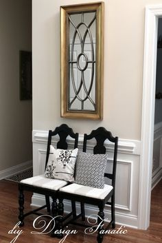 diy Design Fanatic: New Paint For The Foyer Benjamin Moore White Sand on Walls
