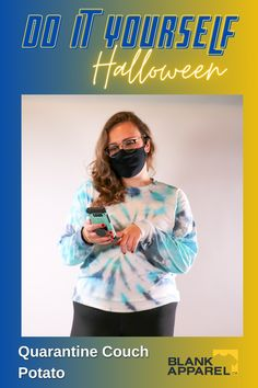 Let's be honest this Halloween might involve lounging on the couch watching horror movies. If that's your plan, we have the perfect costume for you; the Quarantine Couch Potato. Shop this costume: 1) Gildan 5400L 2) Gildan Everyday Mask #halloween #halloweencostume #halloweendiy #diy #fabriccrafts #tiedye #blankapparel #ecommerce #onlineshop #onlineshopping #quarantine Halloween Diy, Halloween Costumes, Horror Movies, Fabric Crafts, Ecommerce, Tie Dye, Potatoes, Diy Projects, Decorations