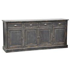 Treasure Trove Accents Joplin Texture Grey Four Door Media Credenza | Overstock.com Shopping - The Best Deals on Entertainment Centers