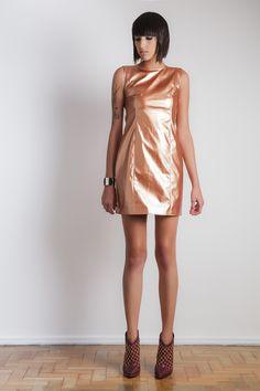 #gverri #gverristore #moda #fashion #inverno2013 #vestido #dress #couro #metálico