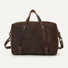Bleu de Chauffe bag. Leather Canvas business bag Report. Men's bag. Leather Laptop bag.