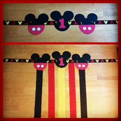 DIY Mickey Mouse Highchair Banner