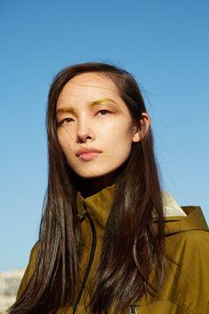 Fei Fei Sun // Gold Eyebrows // // Pat McGrath Golden Makeover for Parish Fashion Week