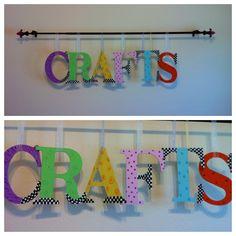 Craft room decor. Enjoyed painting these!