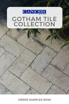 Adding a walkway in your garden or yard immediately makes it more welcoming and homey. Cancos Tile and Stone has the perfect collection for your project- the Gotham Tile Collection. This collection provides you with a brick-like tile. Outdoor Tiles, Outdoor Spaces, Brick Look Tile, Backyard, Patio, New Brunswick, Summer Is Here, Walkway, Gotham