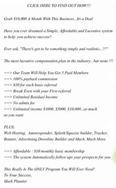 Grab $10,000 A Month With This Business...Its a Deal. #mlm opportunities