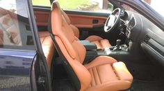 BMW e36 interior with camel vader seats