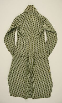 1790's coat, French, made of silk, The Metropolitan Museum of Art (back)