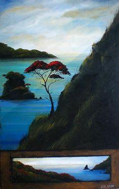 Artist specialising in creating original paintings to harmonise and enhance your interiors. Nz Art, Art For Art Sake, Impressionist Landscape, Landscape Art, Altered Canvas, New Zealand Art, Maori Art, Kiwiana, Indigenous Art