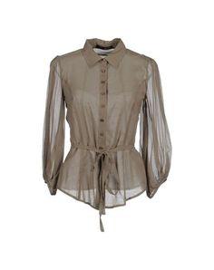 Liu •jo Women - Shirts - Composition: 50% Silk, 40% Cotton, 10% Elastane  Details: basic neckline, long sleeves, front closure, button closing, no pockets, lacing, plain weave, crêpe, solid color