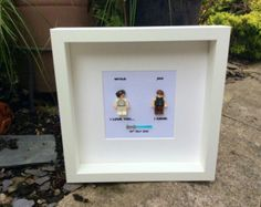 Star Wars I love you I know Princess Leia and Han Solo Lego replica Personalised Frame Picture Engagement or Wedding Gift Valentines Day You And I, I Love You, My Love, Lego Pictures, Han And Leia, Star Wars Wedding, Personalised Frames, Princess Leia, Box Frames