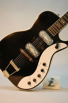 """Here's a 1962 Silvertone Jupiter guitar, courtesy of Greg's Vintage Guitars in Atlanta. Once abandoned for better guitars, these are becoming collectibles, but still """"affordable""""."""