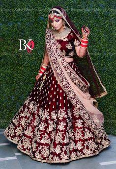 Lovely Wine & Maroon Raw Silk Lehenga Choli with Zari & Resham Embroidery Indian Wedding Lehenga, Bridal Lehenga Choli, Indian Lehenga, Punjabi Wedding Dresses, Lehenga Wedding Bridal, Wedding Lenghas, Sabyasachi Sarees, Indian Bridal Outfits, Indian Bridal Fashion