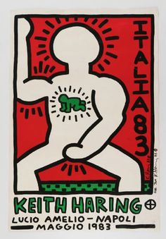 Available for sale from Alpha 137 Gallery, Keith Haring, Italia Lucio Amelio Gallery, Napoli, signed and inscribed to Andy Warhol's last boyfriend Jon … Haring Art, Keith Haring, Art Furniture, Unique Drawings, Art Drawings, Art Exhibition Posters, Principles Of Art, Funky Art, New York Art