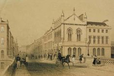 Aberdeen's Union Street where tradesman rioted in the late 1700s over the need for greater transparency of the city council. The Trades Hall, the main meeting point for the workers, is pictured on the right. PIC Aberdeen University.