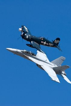 biplane and fighter jet us naval army