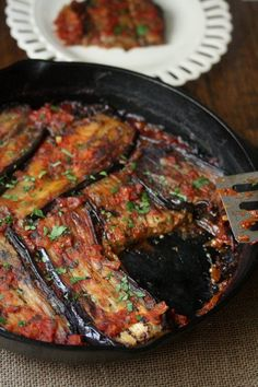 Turkish....but close enough! (Meatless) Turkish Eggplant Casserole with Tomatoes (Imam Bayildi)