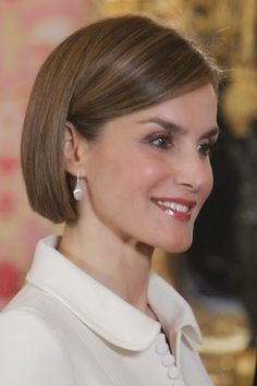 Queen Letizia of Spain attends the lunch in ocassion of the '2014 Cervantes Award' at the Royal Palace on April 22, 2015 in Madrid, Spain