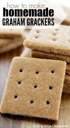 Easy to Make Homemade Graham Crackers recipe. If you are looking for a fun treat idea to make with your kids this Summer then I suggest this easy homemade graham crackers recipe. Graham Cracker Recipes, Homemade Graham Crackers, Gluten Free Graham Crackers, Chocolate Graham Crackers, Pudding Desserts, How To Make Graham, Cookie Recipes, Dessert Recipes, Candy Recipes