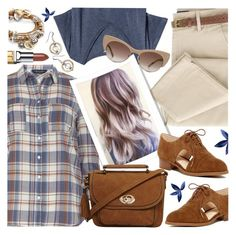 """Belted Trousers & Checked Shirt"" by brendariley-1 ❤ liked on Polyvore featuring Dorothy Perkins, H&M, Nine West, Lizzy James, Tom Ford and Elizabeth Arden"