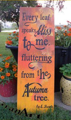 Autumn Tree Sign/Fall Sign/Autumn by GranArt on Etsy
